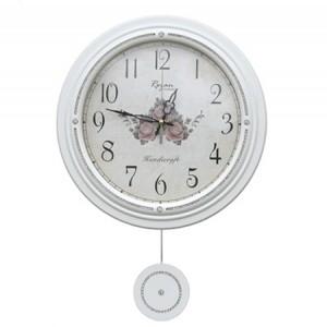 보석원형추벽시계[화이트]