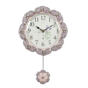 뷰티무소음시계(연보라)