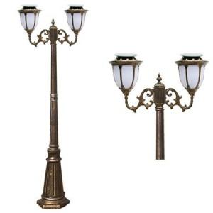 LED 태양광 정원등 [문주잔디등 4713중형-2M (2등) 선택-1와트/2와트]