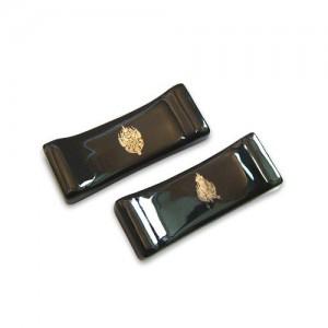 문양 수저받침-흑유 금제관식 Set가격:16,000원