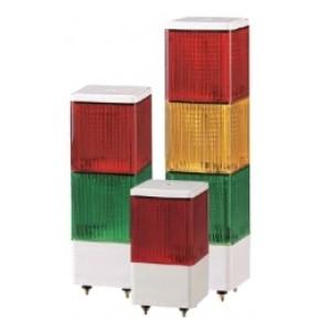 SJL 사각 적층식 LED 점등/점멸 표시등  Ø90mm Max.90dB