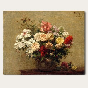 앙리 팡탱 라투르 - 여름꽃 (오라프레임액자)
