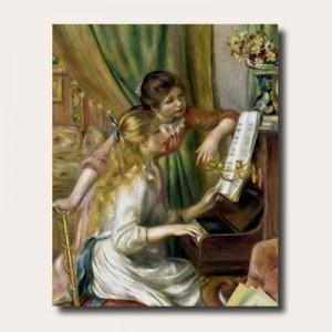 르느와르 - 피아노치는소녀들 (오라프레임액자)