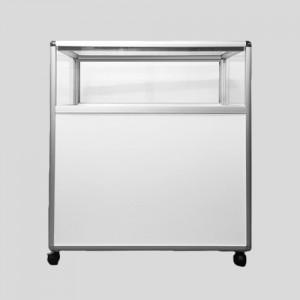 HJ9-902 알미늄 1단 백색 진열장