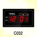 C032/ 월/일 표시실크인쇄, 99㎡형 디지털벽시계, 전자벽시계, 시계인쇄문구