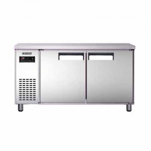 유니크 대성 에버젠 테이블냉장고 UDS-18RFTDR-SV 간냉식 (디지털/올스텐/냉장ㆍ냉동겸용)