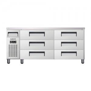 유니크 대성 에버젠 낮은 서랍형 냉장고 UDS-18DDR2 직냉식 (디지털/냉장전용)