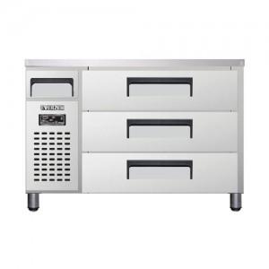 유니크 대성 에버젠 높은 서랍형 냉장고 UDS-12DDR3-D 직냉식 (디지털/냉장전용)