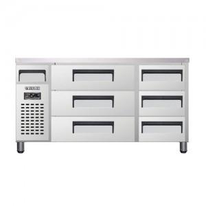유니크 대성 에버젠 높은 서랍형 냉장고 UDS-15DDR3-D 직냉식 (디지털/냉장전용)