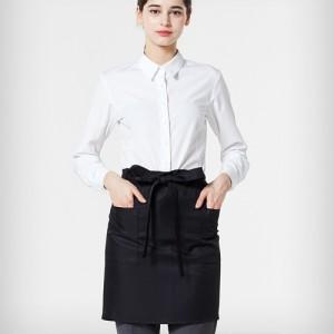 허리형 숏 엉덩이덮개 앞치마 /블랙(A-201)