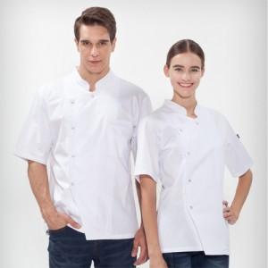 기능성 반팔 싱글진주스냅 조리복 /화이트(O-137)조리복,주방복,양식복,레스토랑,셰브복,여름철조리복,쿨조리복,업소용,