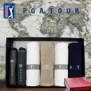 [우산선물세트]PGA 3단클래식+3단로고바이어스+130g타올4p 세트