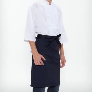 허리형 단색 앞치마/ 네이비(A-303)