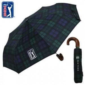 [3단우산]PGA 3단자동 글렌체크우드 우산