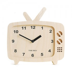 TV Clock (Natural)