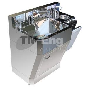 [신제품] (손건조기 포함)순간온수기 장착용 종합손세정대 (사각/센서식)