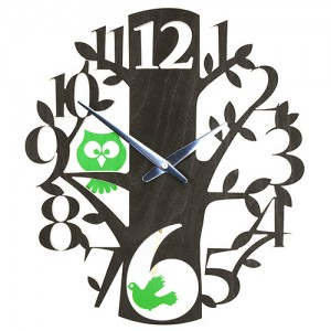 Birds & Owls Clock