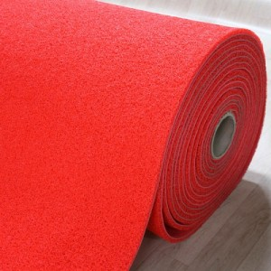 미끄럼방지매트 쿠션코일 빨강(120cm*14T*18M)롤단위