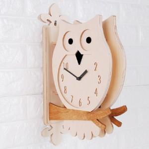 Owl Double Clock(W) 핸드메이드