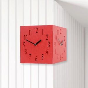 Corner Clock(Red) 컬러우드시계