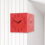 Corner Clock(Red) 친환경 컬러우드시계