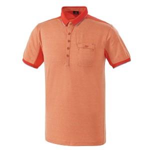 멜란지 2단 시보리 골프티셔츠