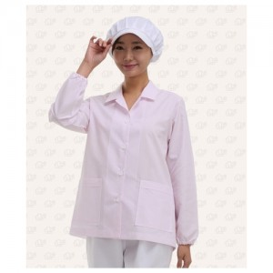 여식당 줄무늬 유니폼(소매고무줄) 8531-1