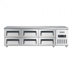 그랜드우성/고급형 간냉식 낮은서랍식냉장고 6자(폭700) GWFM-180LDT / 올냉장