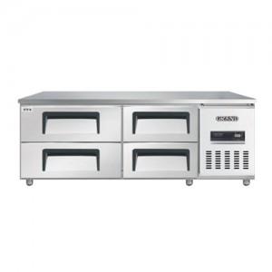 그랜드우성/고급형 간냉식 낮은서랍식냉장고 5자(폭800) GWFM-150LDT / 올냉장