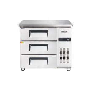 그랜드우성/고급형 간냉식 높은서랍식냉장고 3자(폭800) GWFM-090HDT / 올냉장