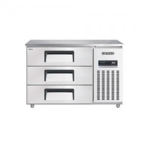 그랜드우성/고급형 간냉식 높은서랍식냉장고 4자(폭800) GWFM-120HDT / 올냉장