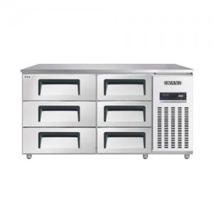 그랜드우성/고급형 간냉식 높은서랍식냉장고 5자(폭800) GWFM-150HDT / 올냉장