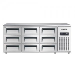 그랜드우성/고급형 간냉식 높은서랍식냉장고 6자(폭800) GWFM-180HDT / 올냉장