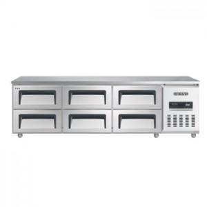 그랜드우성/고급형 직냉식 낮은서랍식냉장고 6자 CWSM-180LDT / 올냉장
