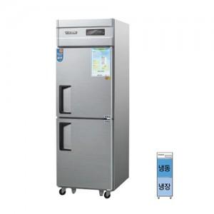 그랜드우성/일반형 직냉식 냉장고 25박스 CWSM-632RF 디지털/½냉동,냉장