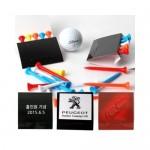 수첩형 골프 플라스틱티 5P세트 /골프공/파우치/그린보