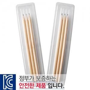 투명사각.원목양절연필3p세트