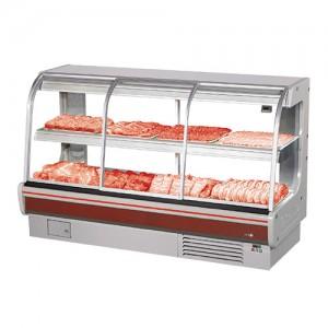 그랜드우성/일반형 정육2단 대면 일반형 / 전면슬라이딩도어 / 내치형(앞문형) / 직냉식