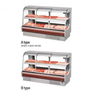 그랜드우성/일반형 정육2단 대면 일반형 / 전면슬라이딩도어 / 내치형(양문형) / 직냉식