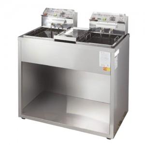 그랜드우성/전기튀김기 2구(스텐)6KW WS-EFS20S