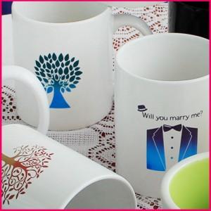 키친필 로고변색머그사은품, 선물, 이벤트, 포토머그컵, 예쁜머그컵, 물컵, 머그컵, 도자기컵, 판촉물, 홍보품, 증정품, 변색머