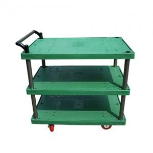 3단 카트 (Industrial Cart) 플라스틱 3단 대차 JW PDT-3 Series