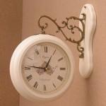 로망스양면시계-백색