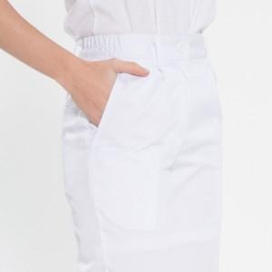 TC20수 부분 허리밴드 위생복 바지(여성용) /화이트(FP-106)