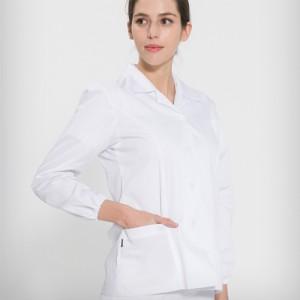 긴팔 TC45수 쿨스판 위생복 셔츠(여성용) /화이트(FS-119)