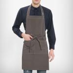 Stylish 목걸이형 단색 앞치마 /다크카키(A-832)음식점 업소용 자수인쇄 커피숍 프렌차이즈 요식업 단체행사