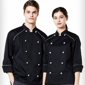 긴팔 나그랑 조리복 /블랙(O-113)요리사 레스토랑 쉐프 식당 음식점 고급스런 위생복 조리사