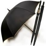 무지 검정70 폰지체크바이어스 장우산