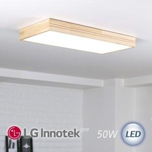 LED 모던 직사각 거실등 50W