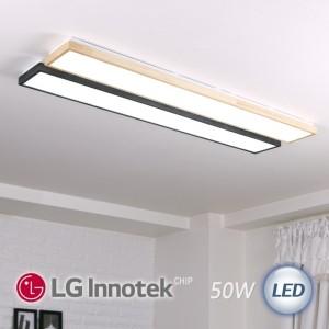 LED 로뎅 주방 1등 대 50W (블랙 / 원목 2가지 색상)